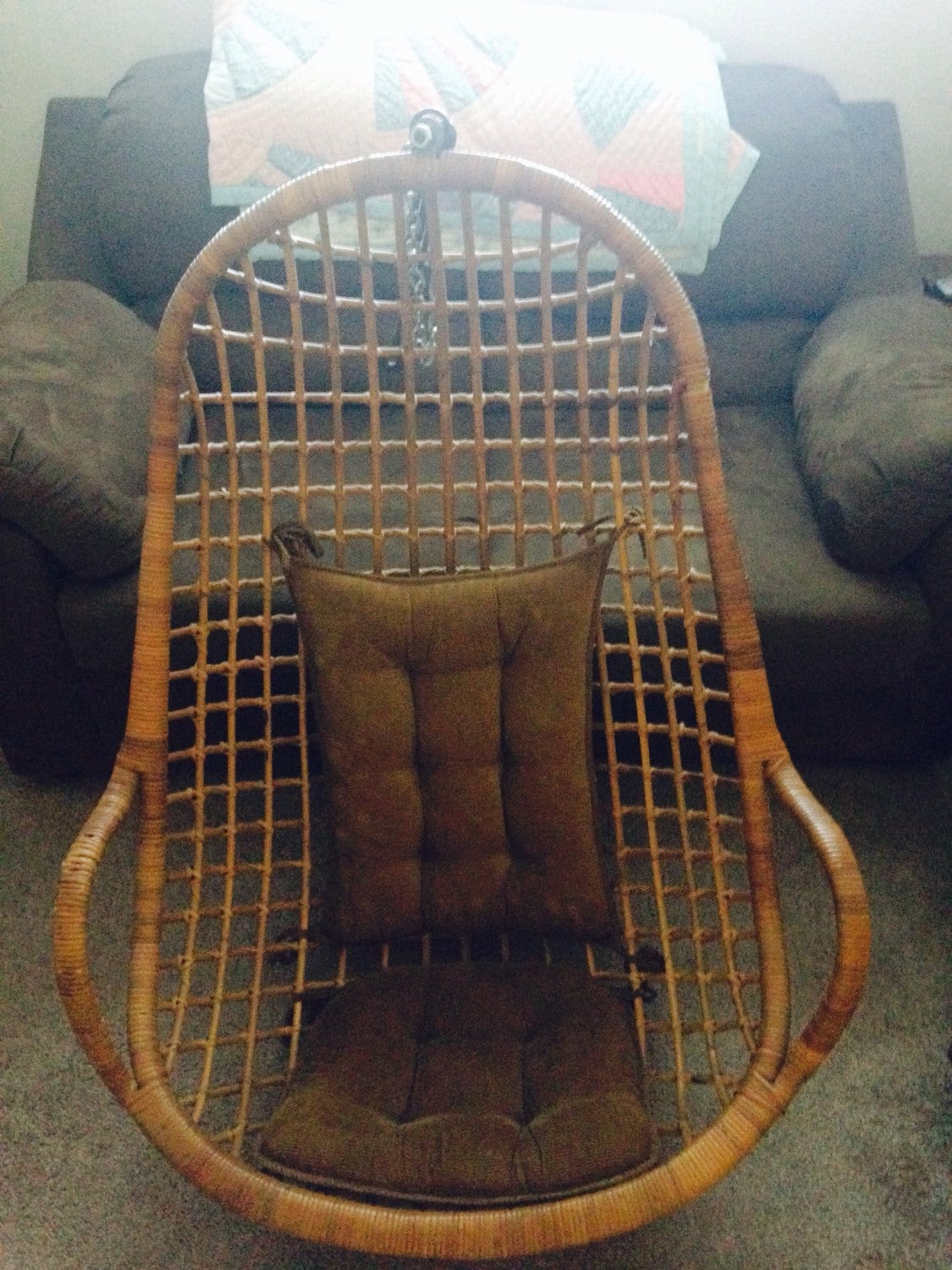 Egg Shaped Wicker Chair Mid Century Modern Rattan Wicker Egg Shaped Chair Hanging