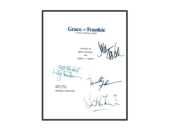 Grace and Frankie Movie Script Autographed Signed: Jane Fonda