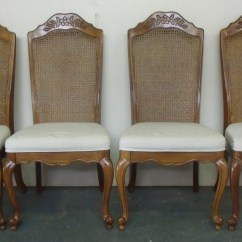 Solid Oak Pressed Back Chairs Kids Bungee Chair Set Of Four Vintage Dining Room Kitchen