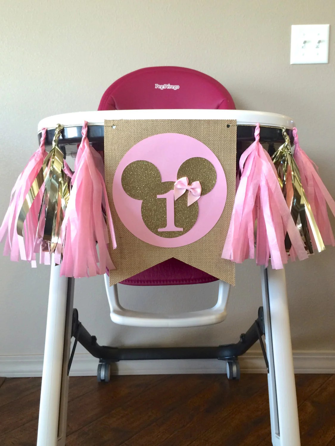 mickey mouse high chair decorations folding joinery minnie banner birthday cake