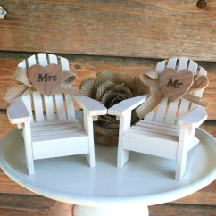 Adirondack Chair Cake Topper Diy Wood Refinishing Beach Wedding Toppers Mr And Mrs