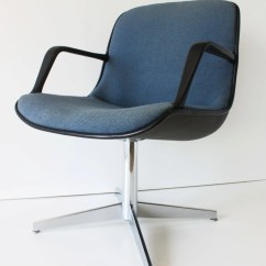Steelcase Vintage Chair Chaise Lounge Chairs For Patio Blue Armed Shell Office Pollack By