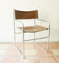 Chrome Sling Chair Mid Century Modern Vintage Arm Chair