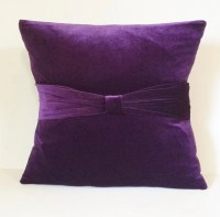 Plum Velvet Sofa Throw Pillow Cover Pillow Case Slipcover