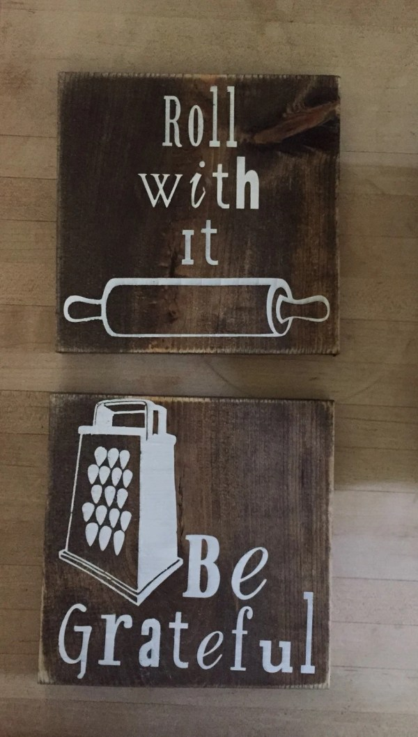 Wooden Kitchen Sign Sayings