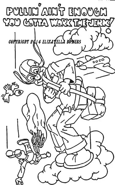 parachute man adult coloring page image graphics digital
