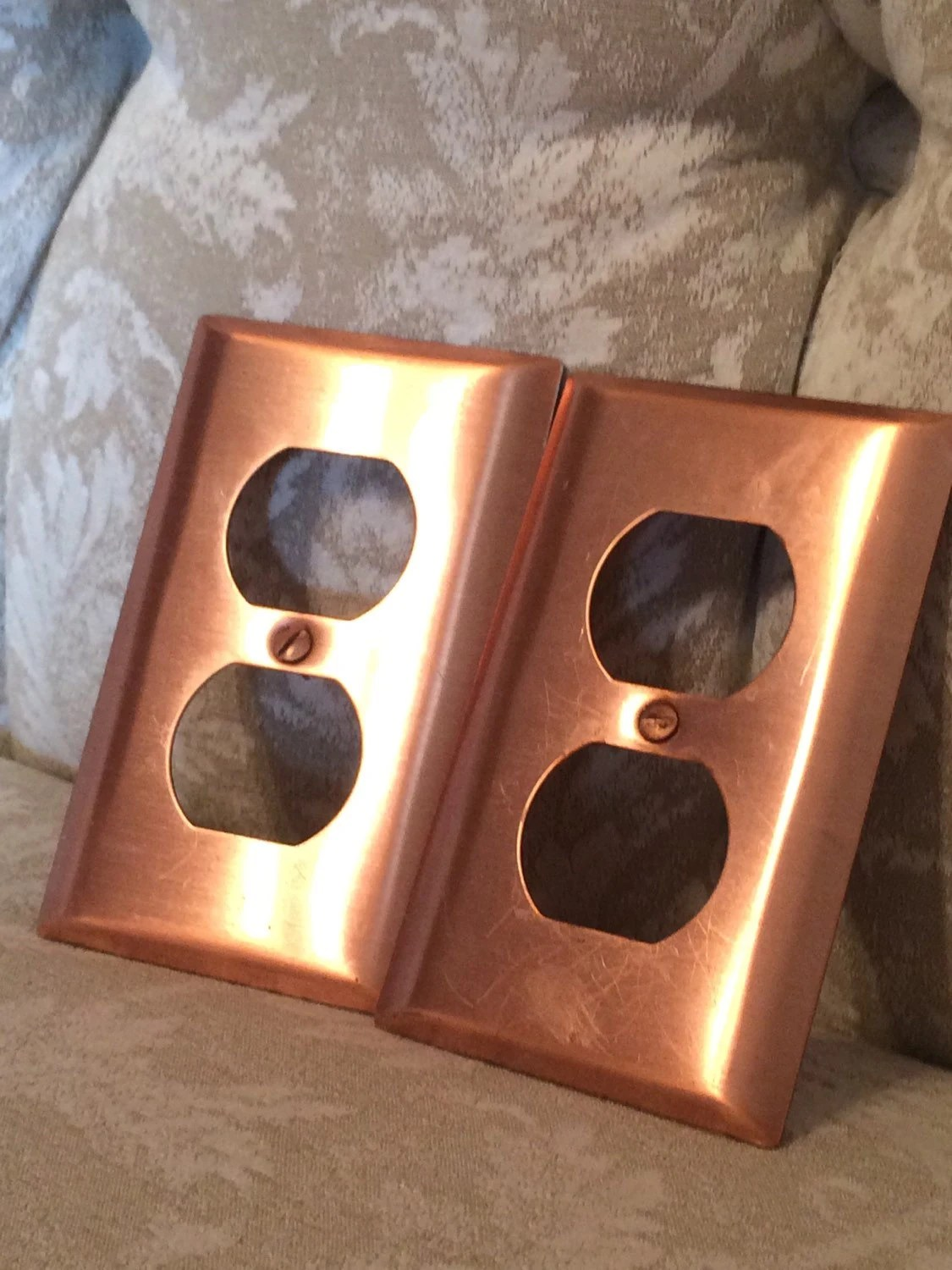 Retro Copper SwitchPlates Outlet Covers With Matching Copper