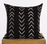 20 Inch Black and White African Mud Cloth Pillow by ...