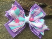hair bows pink hairbow purple bow