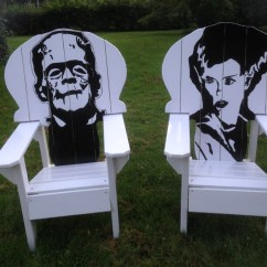 Wooden Skull Chair Swivel Home Goods Frankenstein And Bride Of Adirondack Set