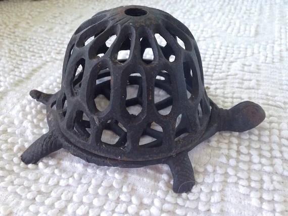 Antique Cast Iron Turtle String Holder