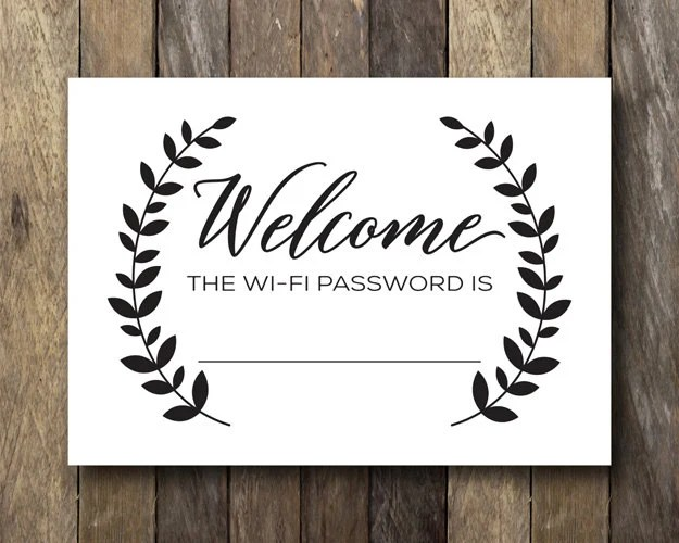 Unique wifi password related items  Etsy