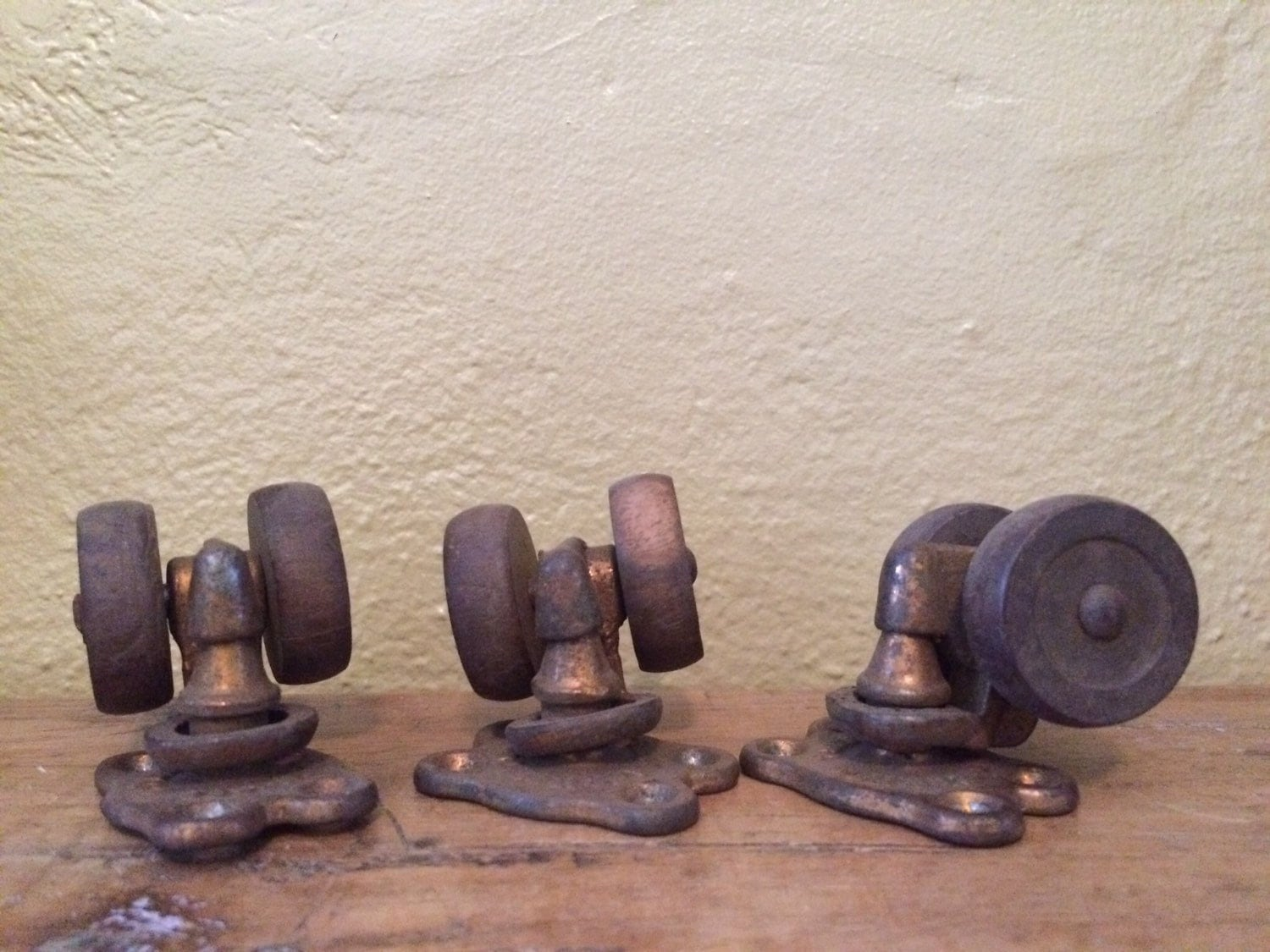 antique desk chair wheels the empty gospel song dual wood furniture or casters set of 3 tucker