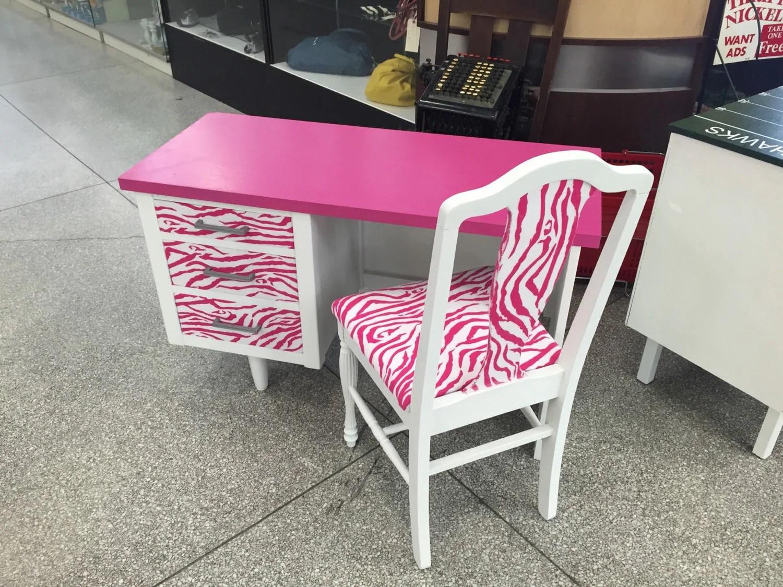 zebra print office chair summer infant wood high on sale custom desks for order desk hot pink