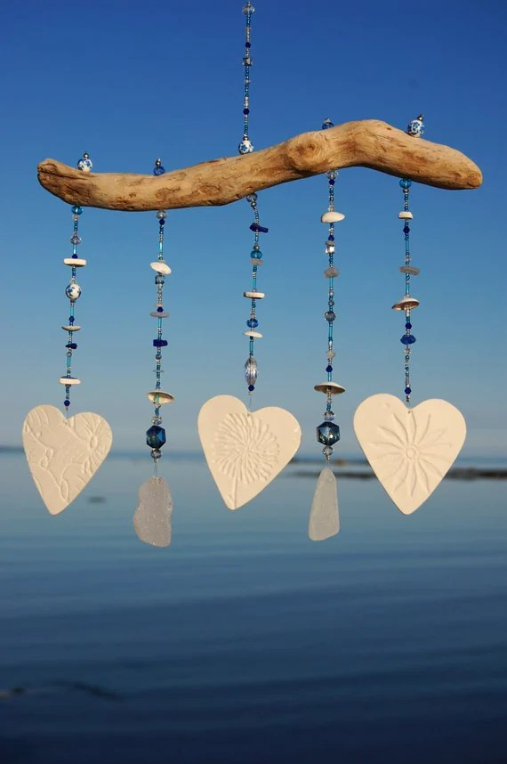Items similar to Sea Glass Wind Chime  Ceramic Wind Chime