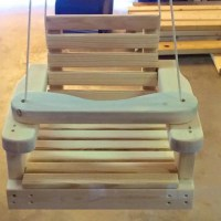 Old Fashioned Wooden Baby / Toddler Swing Kids Patio Swing