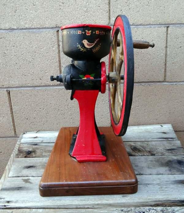 Antique Coffee Grinder Corn Grist Mill Hand Crank