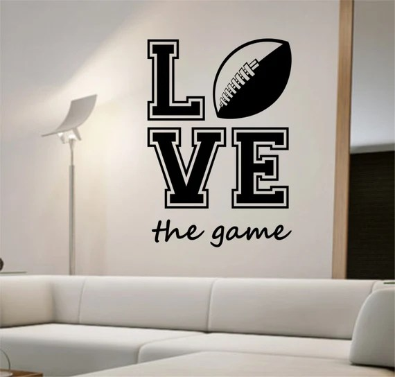 Love the Game Football Quote