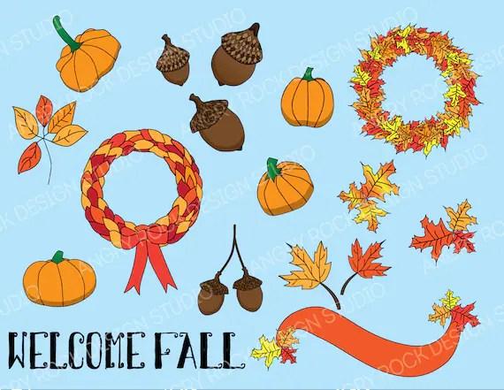 fall clip art set