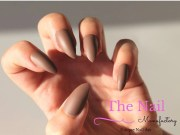 chocolate brown matte stiletto