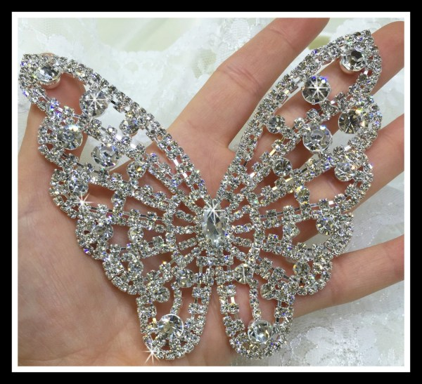 Large Rhinestone Butterfly Applique Animal Decorations