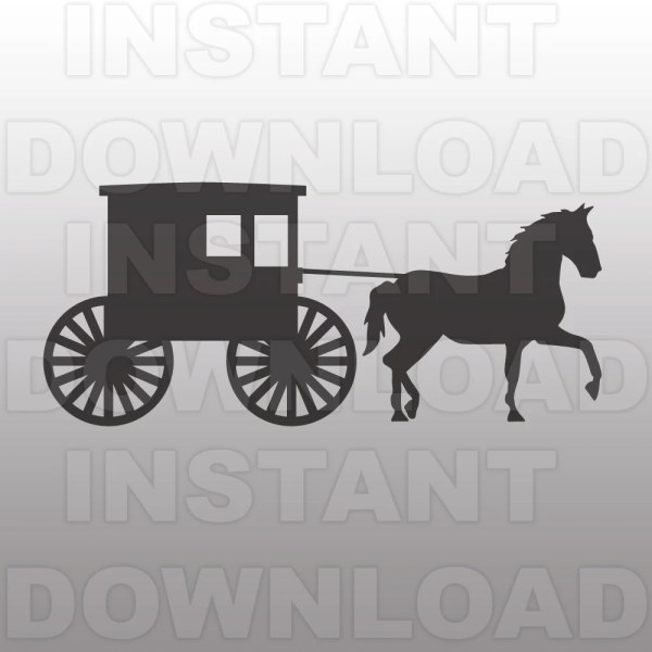 Amish Buggy Svg File Farming