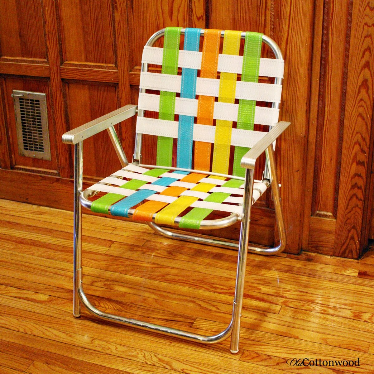 webbing for aluminum folding chairs round table vintage lawn chair lawnlite