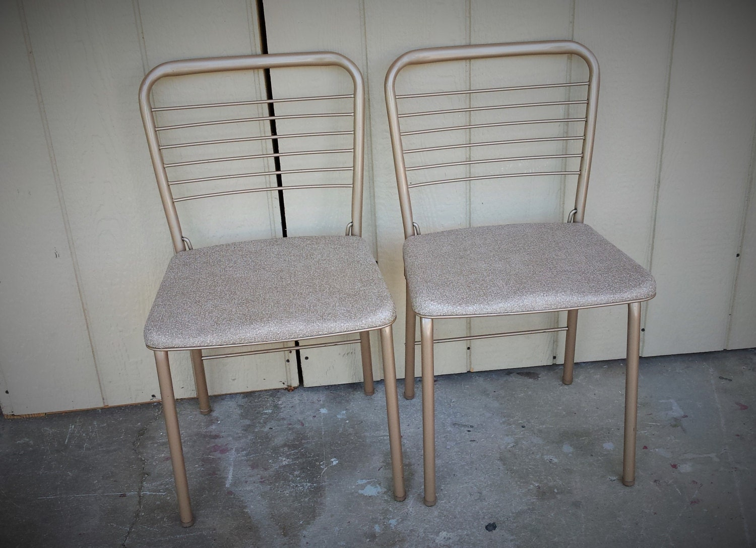 Cosco Card Table And Chairs Pair Of Vintage Cosco Metal Folding Game Table Chairs