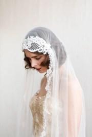 1920s wedding veil ivory chapel