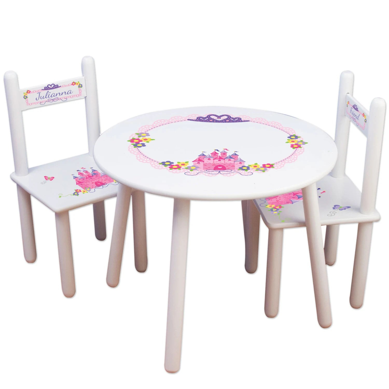 table and chairs for kids chair cover rentals essex girls princess set frozen furniture