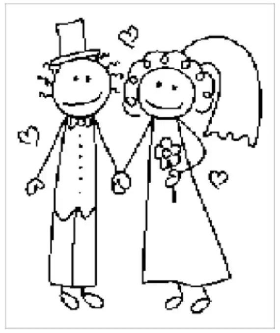 Bride and Groom Written Crochet Graph Pattern by muttix on