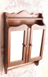 Antique wooden bathroom medicine cabinet by dankvintagefinds