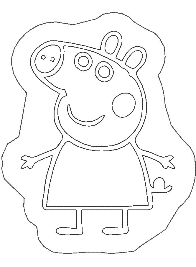 Pink Pig Coloring Stuffie Coloring Stuffie design Instant