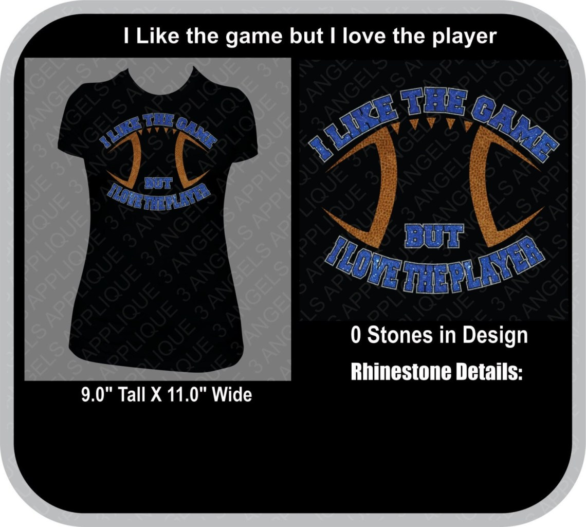 Download I Like The Game But I Love The Player SVG Cutter Design