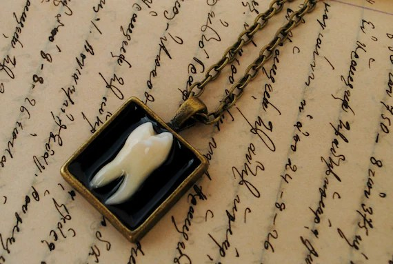 Real Human Teeth Necklace