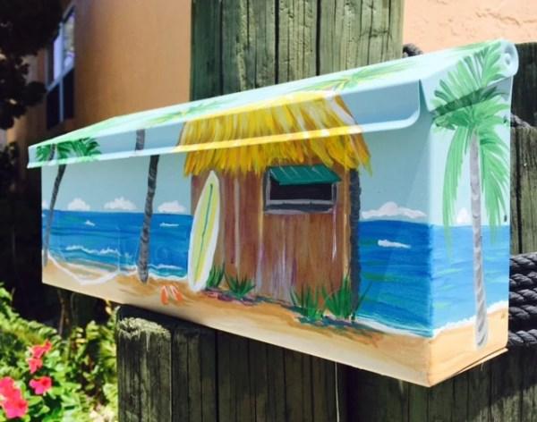 beach mailbox surf shack