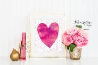 Heart Printable Hot Pink Wall Art Pink Nursery Decor