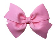 4 pink hair bow pinwheel