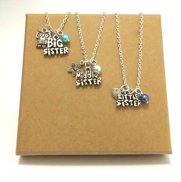 Sister Necklace Set Jewellery Of 2 3
