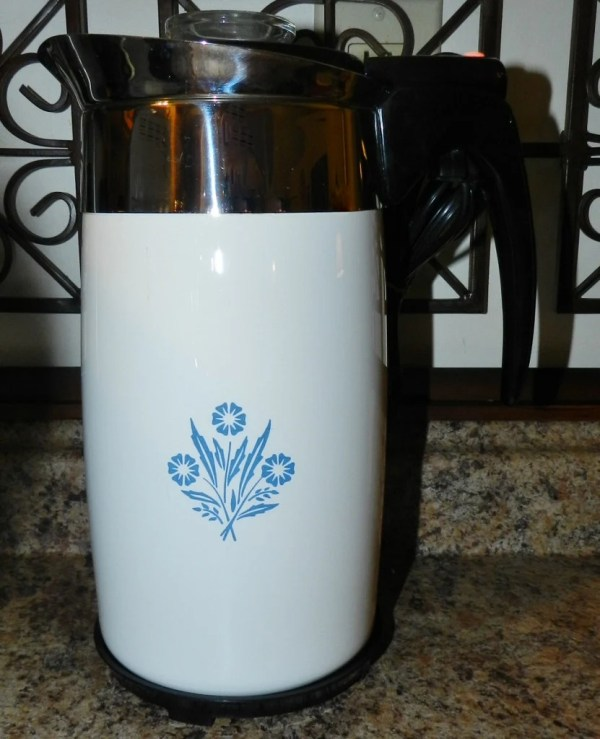 Vintage Cornflower Corning Ware 10 Cup Electric Percolator
