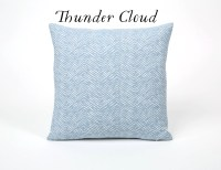 Light Blue Painterly Throw Pillow Cover 12x18 20x20 by ...