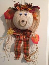 Scarecrow Wreath Straw hat wreath fall decor Fall by ...
