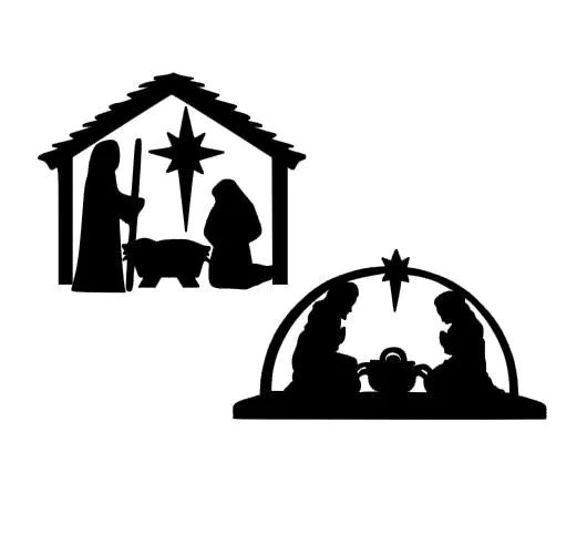 Christmas Nativity Scene SVG Studio 3 DXF EPS and pdf