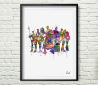 Justice League home decor wall art painting canvas wall
