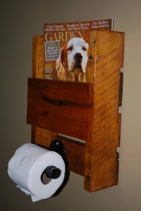 Wall Magazine Rack and Toilet Paper Holder by GeorgiaRustics