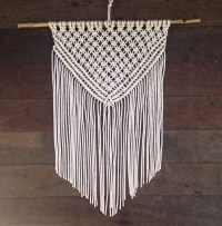 Triangle Rope Macrame Wall hanging / wall art / wall fringe