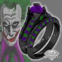 The Joker Batman Dark Knight Inspired Amethyst Swarovski
