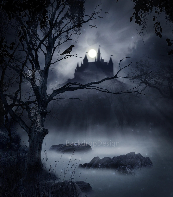 Fall Graveyard Cemetery Wallpaper Items Similar To Halloween Backdrop Castle Black Scary