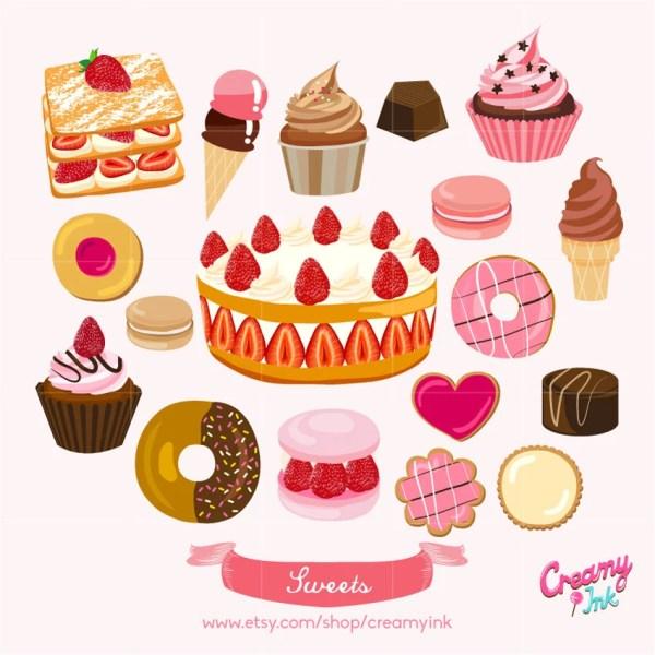 sweets digital vector clip art
