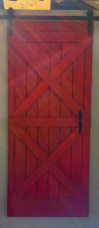 Rustic Red Barn Door Handmade Solid Wood by RusticDeals on ...